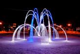 Новогоднее оформление фонтан